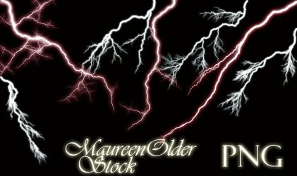 STOCK PNG lightning by MaureenOlder