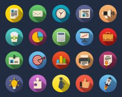 Business Flat icons by Alexgorilla