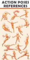 Action Poses Reference Sheet by Seiorai