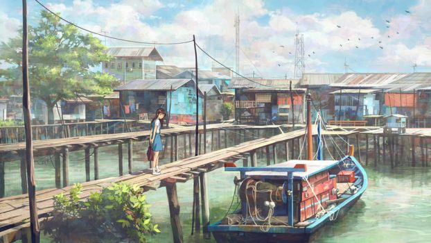 Fishing Village Schoolgirl by FeiGiap