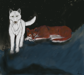 Night Wolves by whiterain11