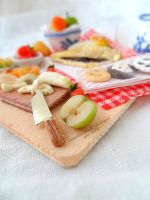 Miniature food : Break set ! scale 1:12 by Valentina-PinkCute
