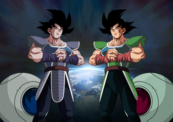 Bardock and Turles 2018 by obsolete00