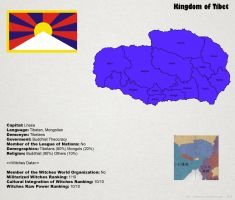 SW: Map of Tibet by ThanyTony
