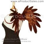 eProductSales Allison Brown Feather Angel Wings by eProductSales