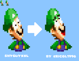 ShyGuyXXL's Luigi Face Sprite Re-resqashed by ericgl1996