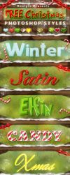 FREE Christmas Photoshop Styles - Text Effects by KoolGfx