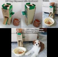 DIY Dog Dispenser with Cardboard for my Precious by krystlekmy