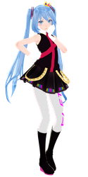 [MMD] Kimagure Mercy Miku (Note for DL) by 10JmixP