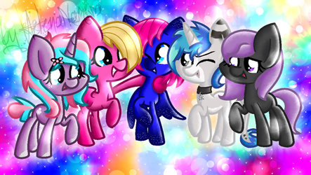 MLP take a picture X3 by HelenaNagisa10