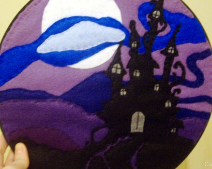 Castle Embroidery Hoop by Mellowed-Mushroom
