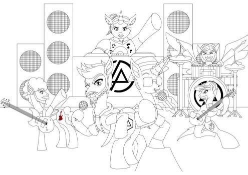 Numb Divide Squad (Line Drawing) by nigel5469