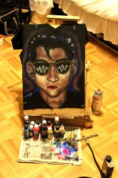Alex Turner Airbrushed T-Shirt by Shadowhunter97