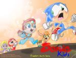 Sonic Kids in color by KicsterAsh