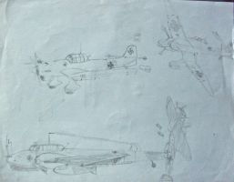 Luftwaffe sketches by Mrpalaces