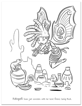 Goblins Drool, Fairies Rule, Coloring Book page by gameogami