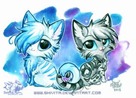 Chibi Starlight and HollyPelt by Shivita