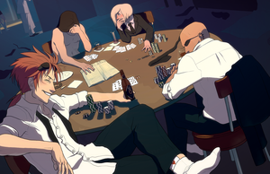 The Shinra Breakroom by hyperionwitch