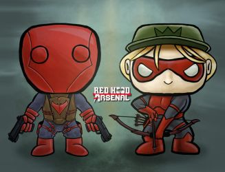 Red Hood and Arsenal Funko POP Concepts (iPad Pro) by Blamrob