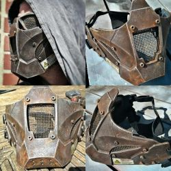 Post Apocalyptic Warriors face Armour by steelgohst