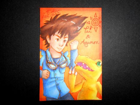 Tai and Agumon ATC by Libra-the-Hedghog