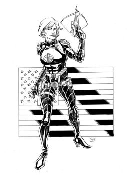 Scarlett as Baroness GI Joe Commission by thecreatorhd