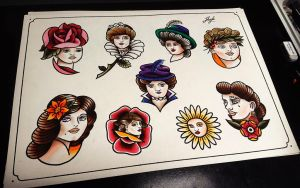 Vintage lady sheet by HoylierThanThou