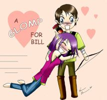 A Glomp for Bill :D by dhqx