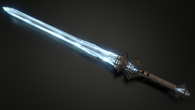 Ayleid GreatSword - Claymore Ayleid - TES Fanart by Etrelley