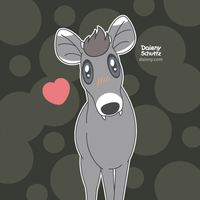 Tufted deer by Daieny