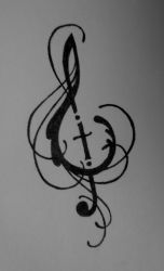 Music and Cross design by Lamorien