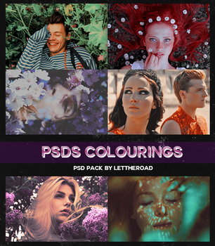 PSD Pack - Colourings by LetTheRoad