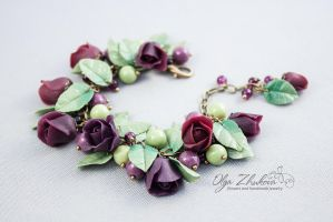 Bracelet of polymer clay by polyflowers