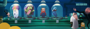 Dr. nefario experiments on the Minions by ChristopherOnciu
