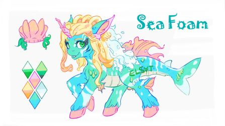 Sea Foam adoptable! (auction) [CLOSED] by Elsyyt