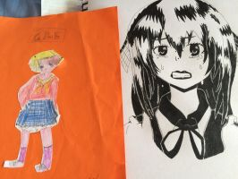 Very first drawing vs most recent drawing by epicbubble7