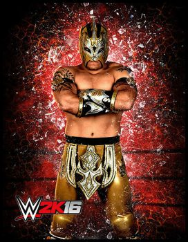 WWE 2K16 Kalisto Character Art by ThexRealxBanks