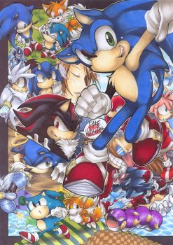 Sonic's the name, speed's mah game colored by AtlanticaSora