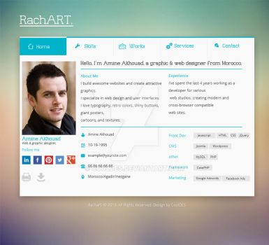 Rachart Web template for sale by CoolDes