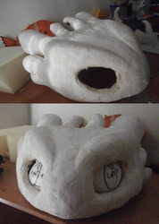 Toothless Quadsuit Head Base WIP by UnicornsInTheDryer
