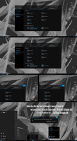 Shadow Black Glass Blue Theme Win10 October 1809 by Cleodesktop
