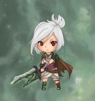 League of Legends - Riven Chibi by GM-Pi