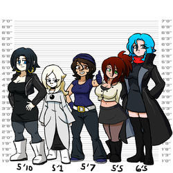Girls Height by TerryRed