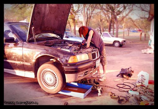 Working on the BMW by xcorpseofdejectionx