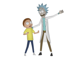Rick and Morty - Papercraft Models (W.I.P 2) by RavaMaster