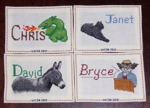 Con Critters -- Cross-stitch by wemustnotforget