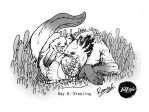 INKTOBER DAY 6 Drooling by GreenBlitzArt