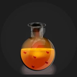 Lava Potion Bottle by BrandyKoopa92