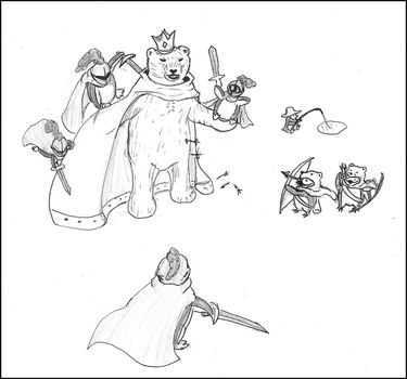 Battle with King Bear by EvilTelephone