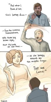 Mark Hamill on Carrie Fisher by Sleevia